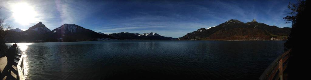 Der Wolfgangsee vom Bürglstein aus gesehen