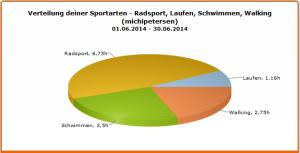Verteilung der Trainings im Juni 2014