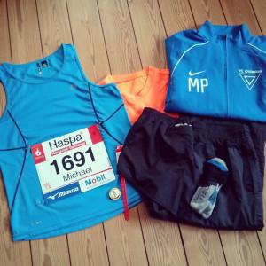 Meine Laufklamotten Hamburg Marathon 2015