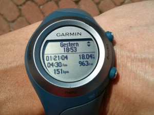 18 km Tempodauerlauf am 18.04.2014